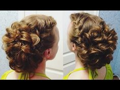 Прическа. Пучок из кос. Вечерняя прическа на основе плетения. LOZNITSA - YouTube