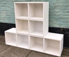 Modular Record Storage Units : 15 Steps (with Pictures) Lp Storage, Modular Storage, Record Storage, Storage Units, Storage Solutions, Storage Ideas, Painted Sideboard, Modern Sideboard, Living Room Storage