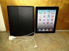 IPad 2 Black 16GB with leather case.