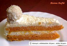 Sütőtöktorta kókuszos mascarpone krémmel Naan, Vanilla Cake, Recipes, Sweets, Cake, Mascarpone, Ripped Recipes, Cooking Recipes