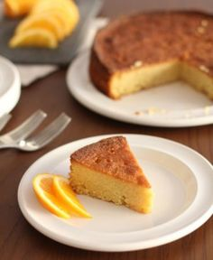 Orange and Honey Polenta Cake {Gluten Free}