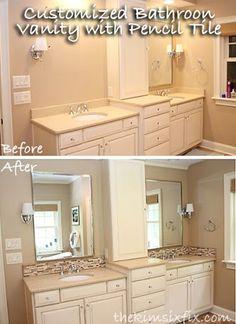 The Kim Six Fix: Updating A Vanity With A Custom Tile Backsplash