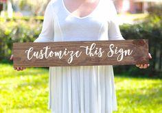 Custom Wooden Wedding Signs   Handmade by Mulberry Market Designs  #rusticwedding  #weddingsigns  #woodensigns  #rusticsigns