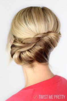 Twisted Chignon ~ Looks pretty! #hairstyles