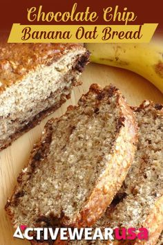 Chocolate Chip Banana Oat Bread Recipe - a healthy sweet snack bread that's deliciously chewy and actually good for you!
