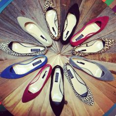 pointed flats.