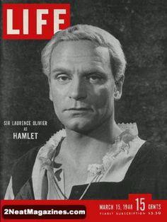 Sir Laurance Olivier as Hamlet
