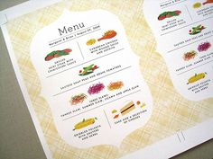 Menu Inspiration for Your Wedding Menu Book, Wedding With Kids, Camp Wedding, Wedding Decor, Wedding Ideas, Dinner Party Menu, Restaurant Menu Design, Print Layout, Menu Layout