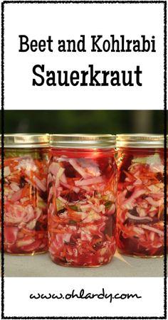 Beet and Kohlrabi Sauerkraut - www.ohlardy.com