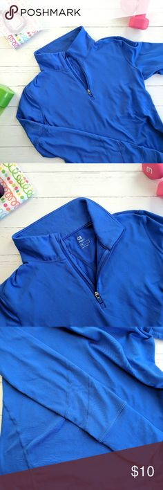 Gap Fit Running Jacket Gap Fit Running Jacket Bright blue color Size XS  Great condition! Just too small for me. GAP Jackets & Coats