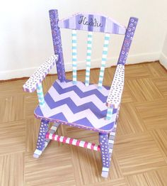 Child Rocking Chair Personalized and Custom Hand by MollieBurd, $150.00