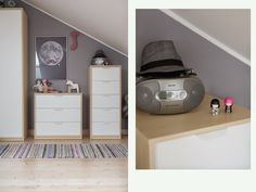 Love this mature yet feminine teenage girl's room | ASKVOLL chest of drawers | Grey walls | See more on Monika's blog abouthomeabout.blogspot.co.uk