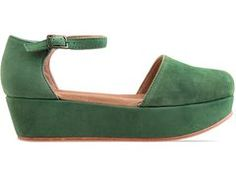 thank god for gee wa wa flatforms! height without the aching feet...cool colors too!