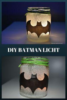 Ein einfaches und schnelles Batman Windlicht basteln mit Materialien die man immer zuhause hat.
