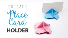 Learn how to make an origami place card holder for weddings & parties, display business cards & name cards, this little holder also spins nicely! ⬇OPEN ME ⬇ ...
