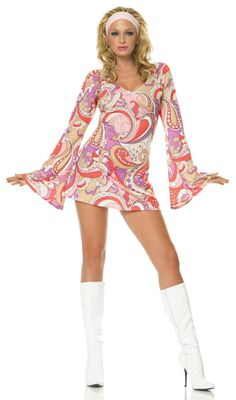 Vintage Paisley Adult Costume Description: Boogie on down tonight! You'll be a blast from the past with this far out Vintage Paisley costume this Halloween. Inc
