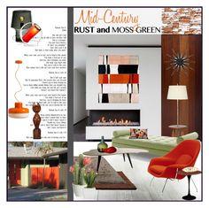 Palm Springs Inspiration by szaboesz on Polyvore featuring interior, interiors, interior design, home, home decor, interior decorating, Joybird Furniture, womb, Muuto and Retrò