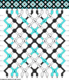 friendship bracelet patterns - 12 strings 12 rows 3 colors