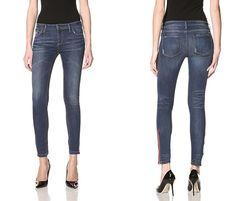 Etienne Marcel Denim Skinny Jean with Side Zip (59% OFF)