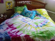 Tie-dyed bedding