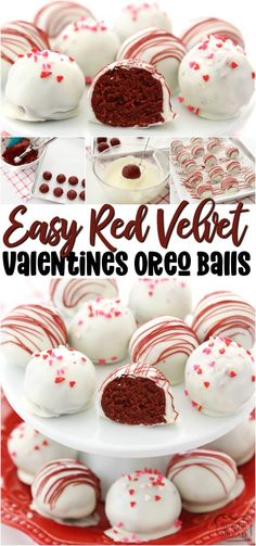 Holidays call for decadent desserts! These Red Velvet Oreo Balls are made with just 3 ingredients & are perfect for Valentine's Day! Made in minutes and so delicious, no one can guess they're made with Oreo cookies! from BUTTER WITH A SIDE OF BREAD Valentine Desserts, Valentines Food, Valentines Recipes, Chocolate Chip Cookies, Chocolate Peanut Butter, Oreo Cookies, Oreo Cookie Balls Recipe, Chocolate Truffles, Sugar Cookie Cups