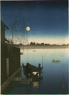 Evening Cool on the Sumida River by Ejiro Kobayashi from the Night Scenes series.