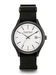 Caravelle New York Men's #45B142 Watch  | Retail Price: $90 | In-stock watches are 30% OFF and catalog orders are 25% OFF! | Click website for watch details | Andrew Gallagher Jewelers, Newark, DE | 302-368-3380 | WE SHIP!!! DON'T FORGET! There is NO Sales Tax in Delaware!!! |