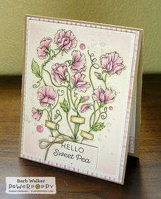 The Buzz: My card featuring Sweet Pea Show, a digital image from #powerpoppy More details on my blog. Click the pic!