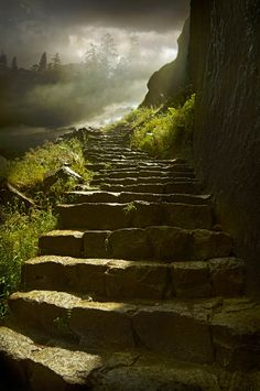 The path is up and the answers always are on the top!