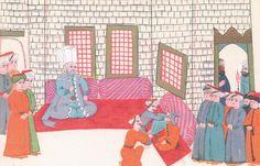 İstanbul-miniature from Turkish Memories, Cicogna Codex, Turkey 17th Century.