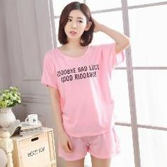 Summer Short Cartoon Round Neck Primark Pajama Pyjamas Pijamas Feminino For  Womens Nightgown Sleepwear Ladies Lovers Suits b0b54b506