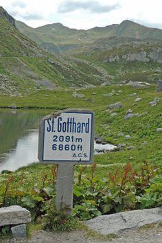 Sankt Gotthard Pass / Passo del San Gottardo (Kanton Uri, Cantone di Ticino)