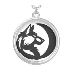 Wolf Element Tribal -Moon- Round Pendant Necklace ($33) ❤ liked on Polyvore featuring jewelry, necklaces, tribal necklace, tribal pendant necklace, tribal jewellery, round pendant necklace and wolf pendant necklace
