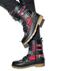 Rawk The Casbah Combat Boots | Dolls Kill