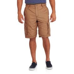 Faded Glory Men's Cotton Cargo Short, Size: 30, Brown