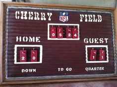 Rustic Scoreboard by TreyColeCreations on Etsy, $200.00  Awesome for Family Room! Personalized! Any Name Any Team