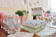 Chá de bebê menina - decoração de mesa