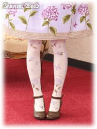 Hydrangeas and Butterflies Tights