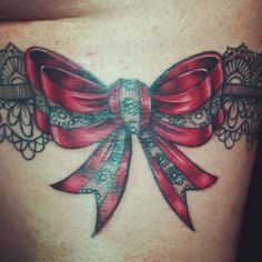 Red lace bow