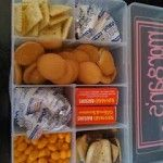 travel treats boxes for her kids using bead storage containers. You can  even personalize