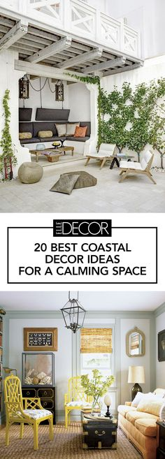 From easy, breezy materials like rattan and grasscloth to accessories inspired by oceanic elements, like seashells and seaweed, let these 20 rooms with coastal decor lift your worries away.