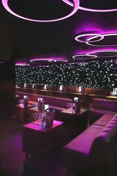Emma)) At bar with Sadie Bar Lounge, Hookah Lounge Decor, Lounge Design, Restaurant Design, Lila Party, Bar Deco, Nightclub Design, Nightclub Bar, Club Lighting