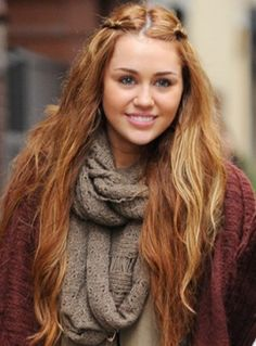Miley Cyrus, even thou this has like a red hair tint, I rlly wanna get this coloring done.