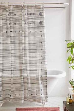 Tano Striped Shower Curtain