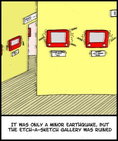 *love The Farside* etch-a-sketch. Hilarious.