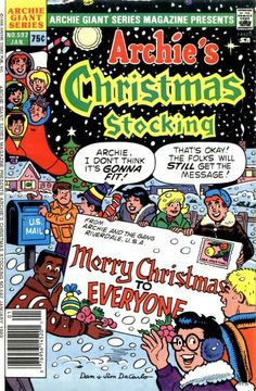 Cover for Archie Giant Series Magazine (Archie, 1954 series) Archie Comic Books, Vintage Comic Books, Vintage Comics, Christmas Pops, Christmas Time, Christmas Stocking, Class Comics, Archie Comics Riverdale, Archie Jughead