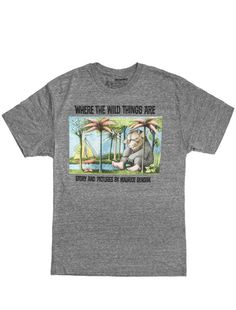 Where the Wild Things Are men's tee- http://www.outofprintclothing.com/collections/mens-tees/products/where-the-wild-things-are-mens-tee