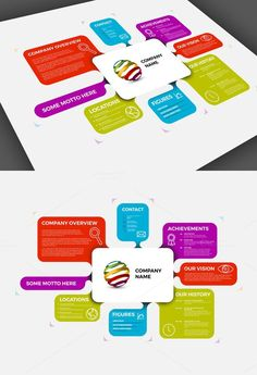 Company Profile Template. Business Infographic