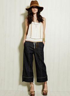 TalieNK Preview Verão 016 #jeans #denim #pantacourt #hat #style #cropped #hat #style #nkstore #cool #verão #talienk #summer016