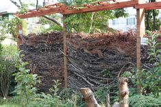 Fences that disappear - good details on what the fence looks like over time, what types of materials to use...